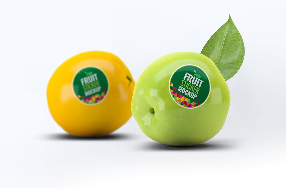 Fruit Sticker Mockup