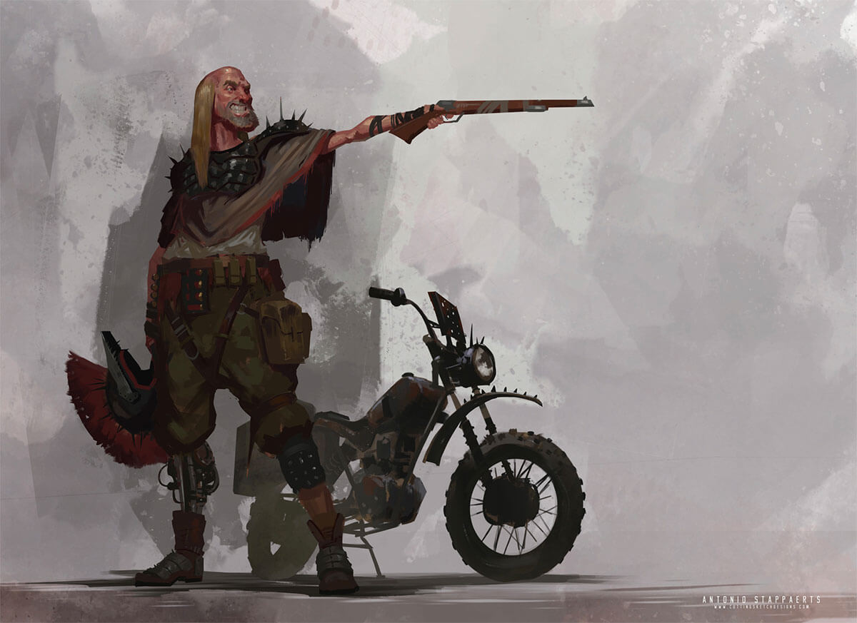 Post Apocalyptic Character by Antonio Stappaerts