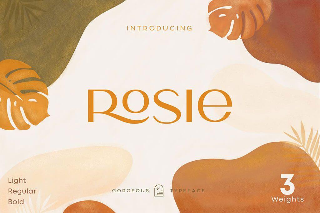 Rosie Sans — Art Deco Font