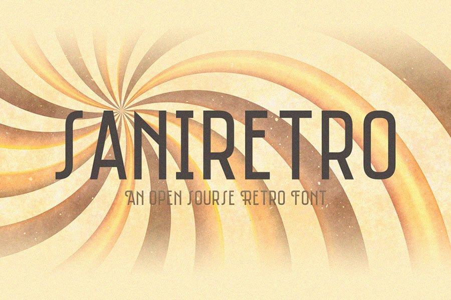 Saniretro Font