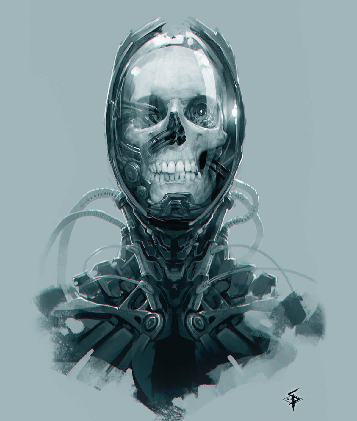 Skull Character by Aleksandr Plihta