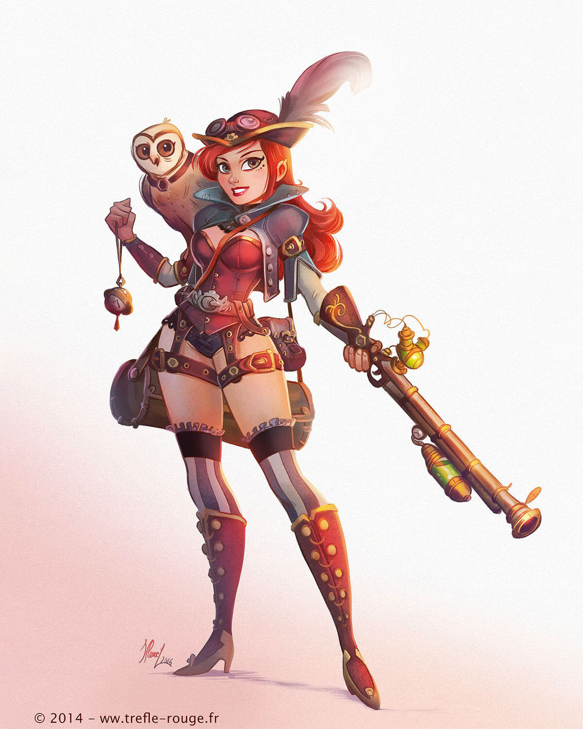 Steampunk Girl by Jeremie Fleury