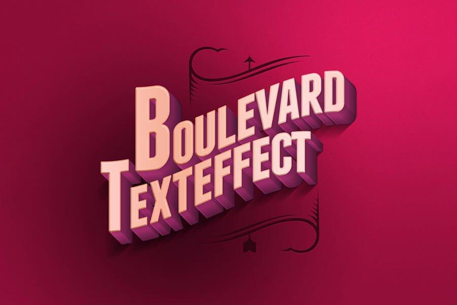 Boulevard PSD Retro Text Effect