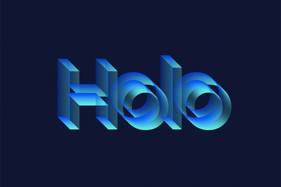 Holo Text Effect
