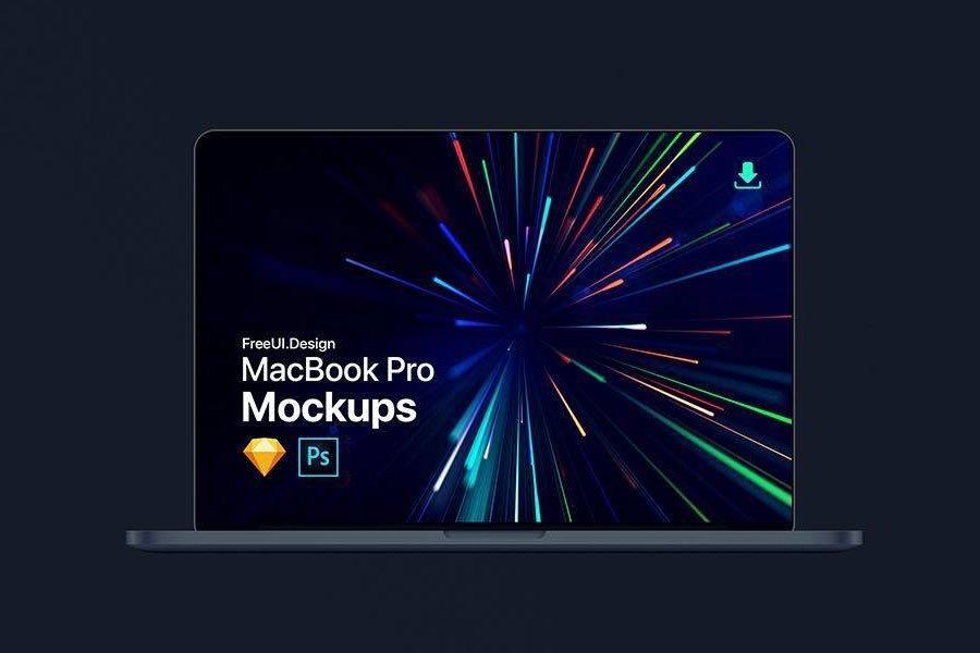 MacBook Pro Sketch & Photoshop Mockup