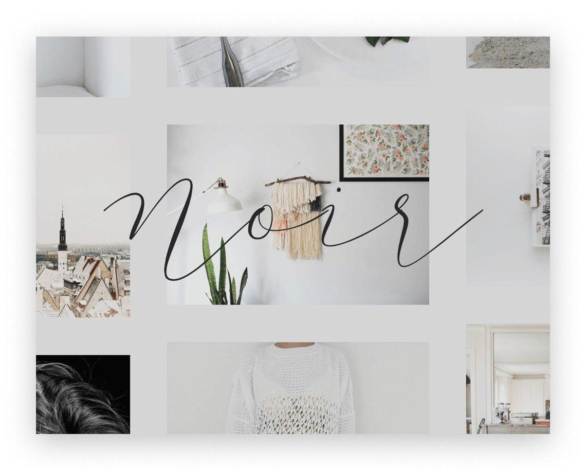 Noir Tumblr theme