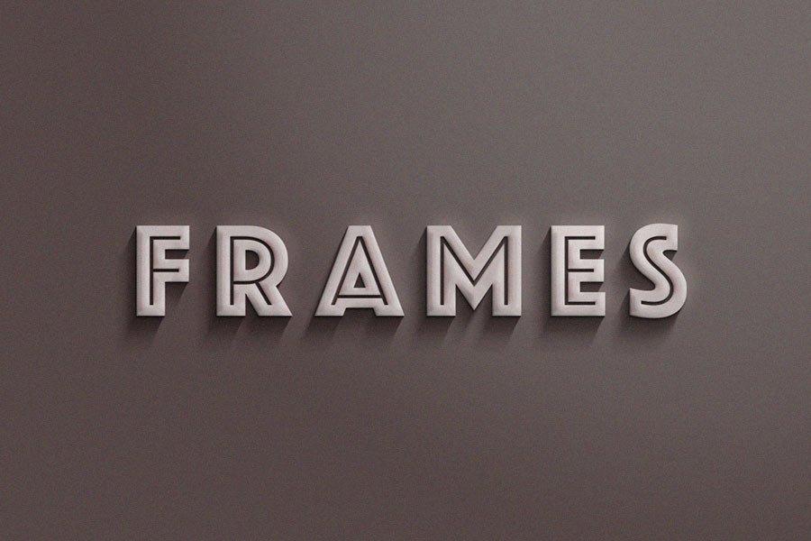 PSD Frames Text Effect