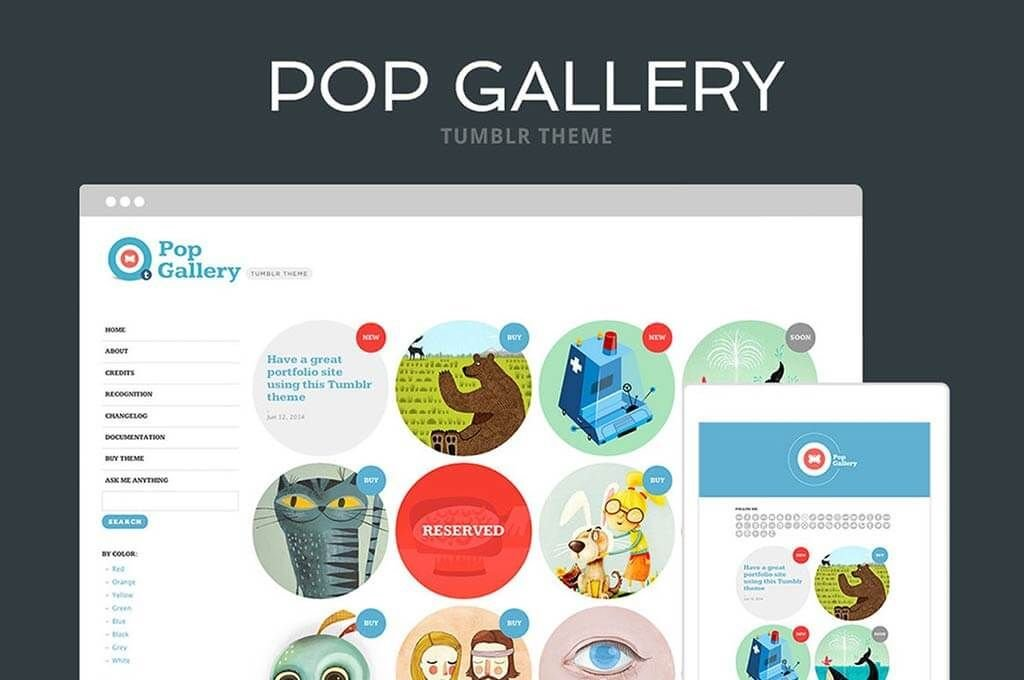 Pop Gallery Tumblr Theme
