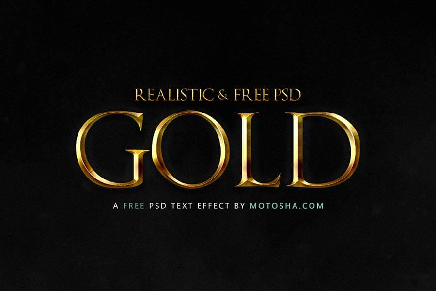 Realistic Gold Text Effect for Photoshop