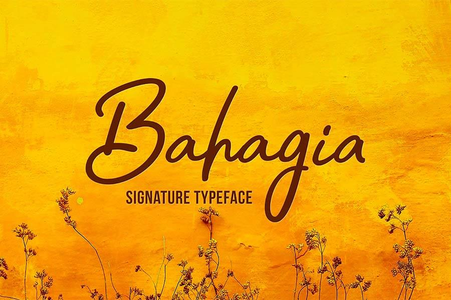 Bahagia Hand Lettering Font