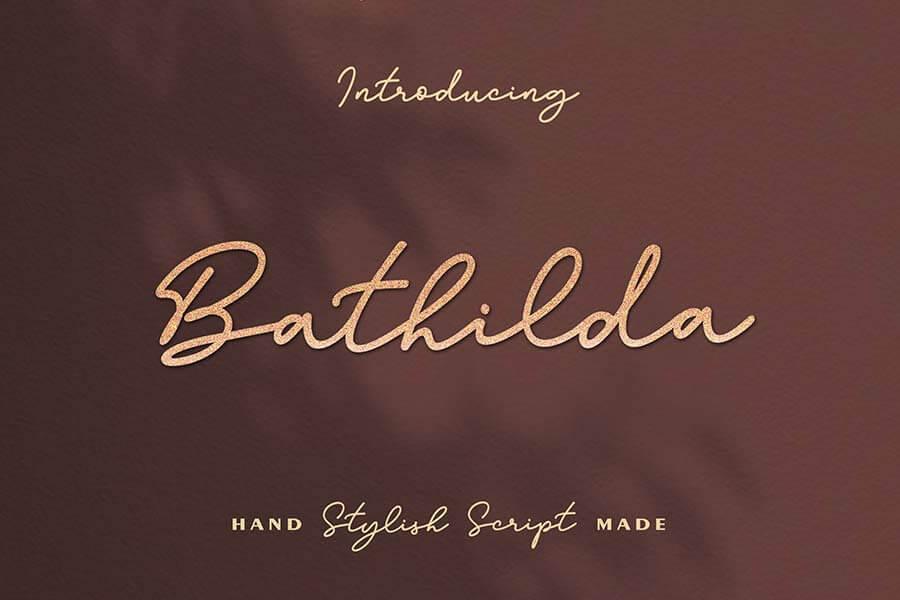 Bathilda Script Font