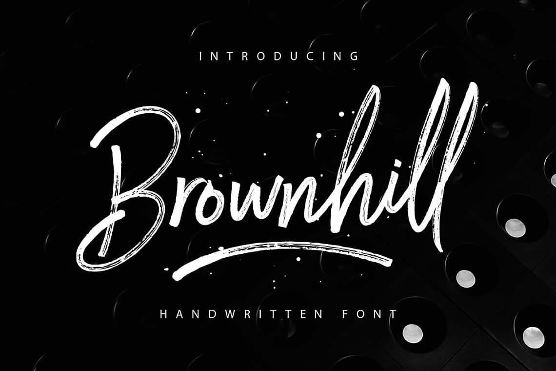 Brownhill Script Font