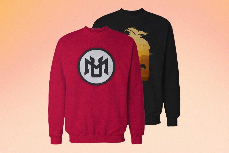 Crew Neck Sweatshirt Mockup