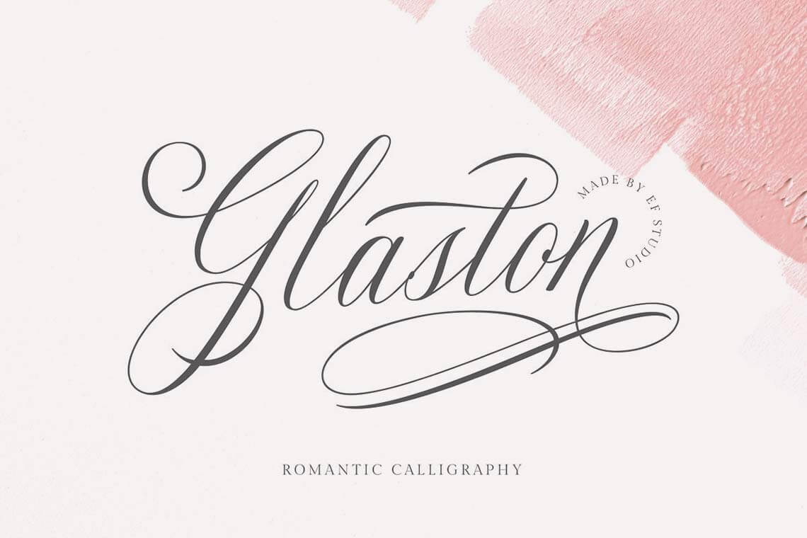 Glaston Romantic Calligraphy Font