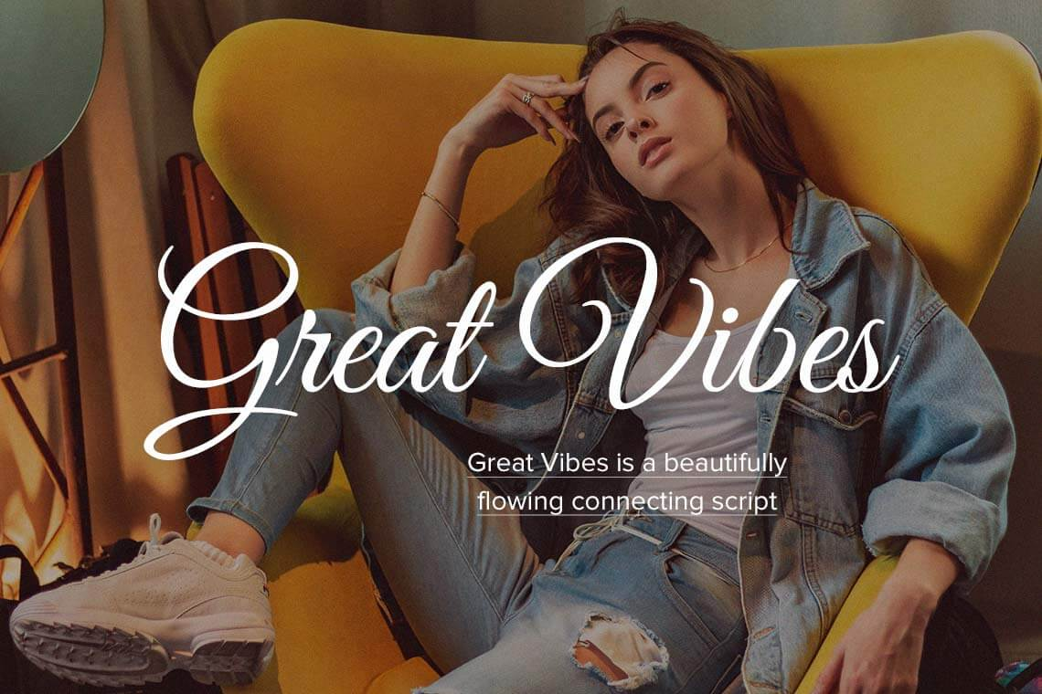 Great Vibes Calligraphy Font