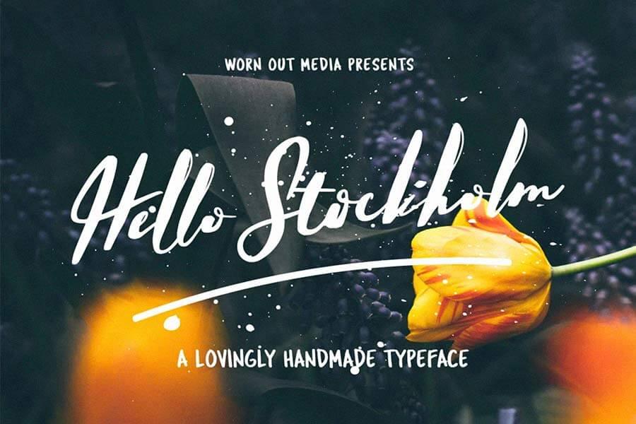 Hello Stockholm Hand Lettering Font