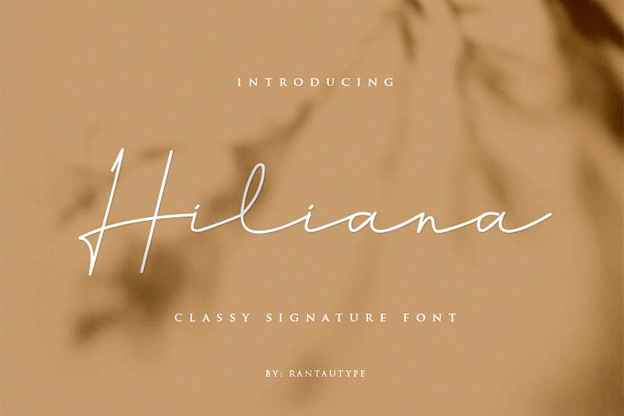 Hiliana Hand Lettering Font