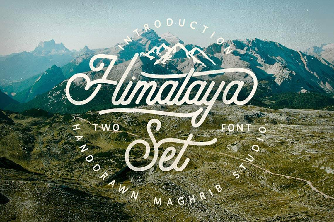 Himalaya Hand Lettering Fonts