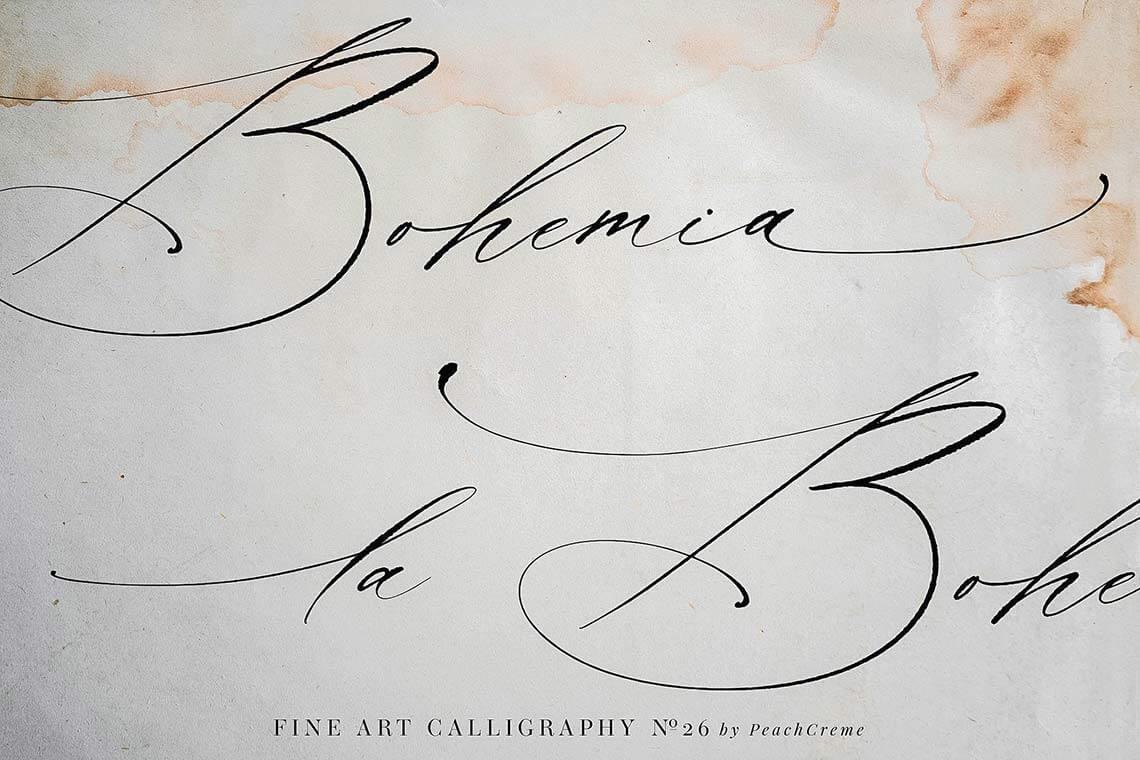 La Bohemia Fine Art Calligraphy