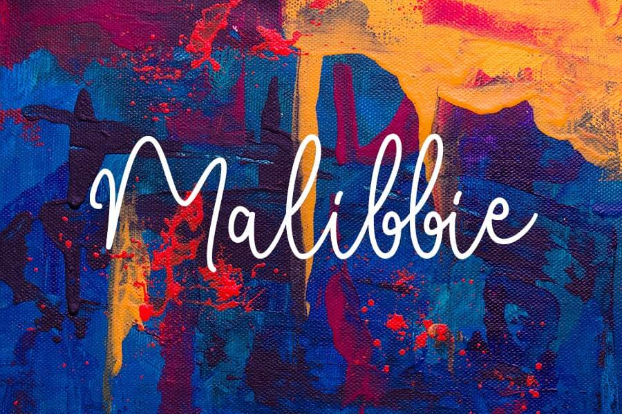 Malibbie Hand Lettering Font