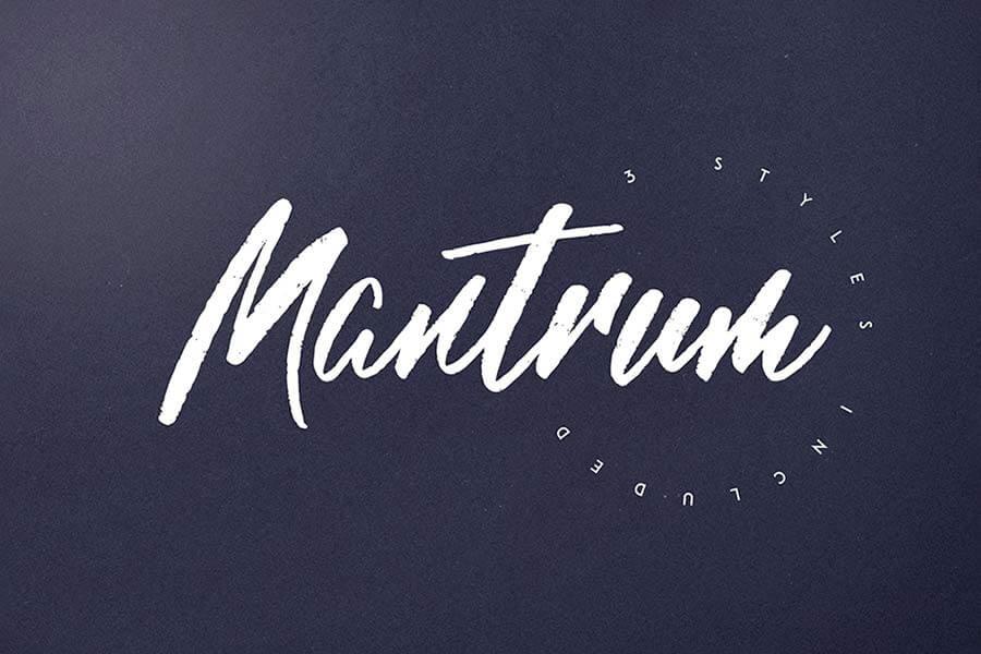 Mantrum Hand Lettering Font