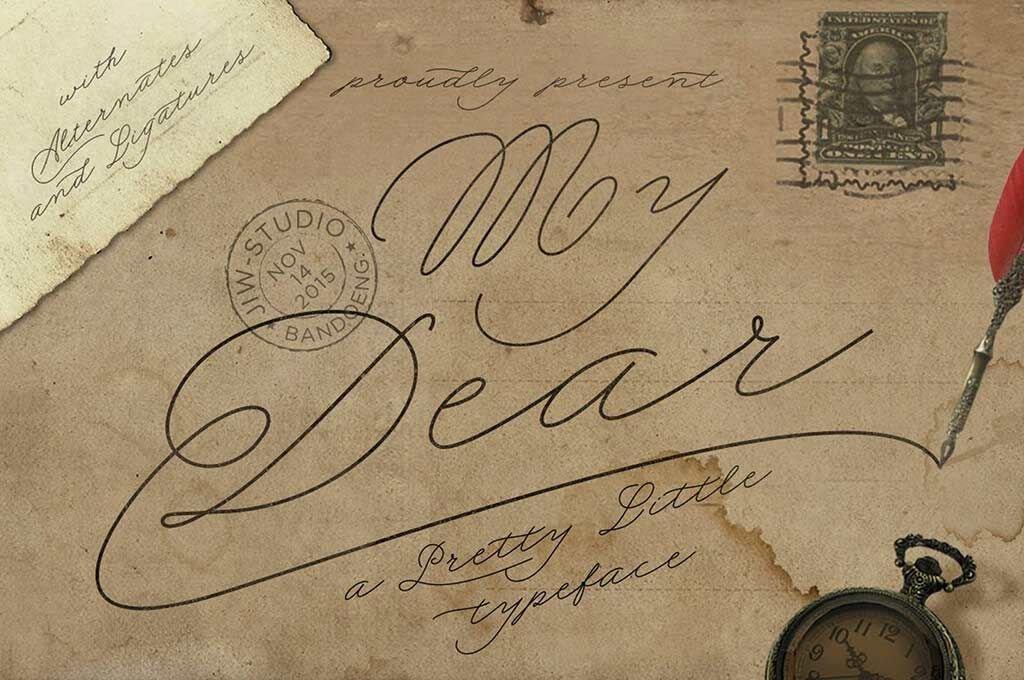 My Dear Script Font