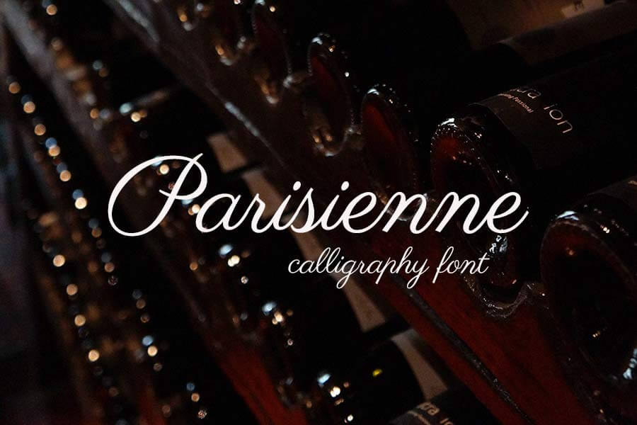 Parisienne Calligraphy Font