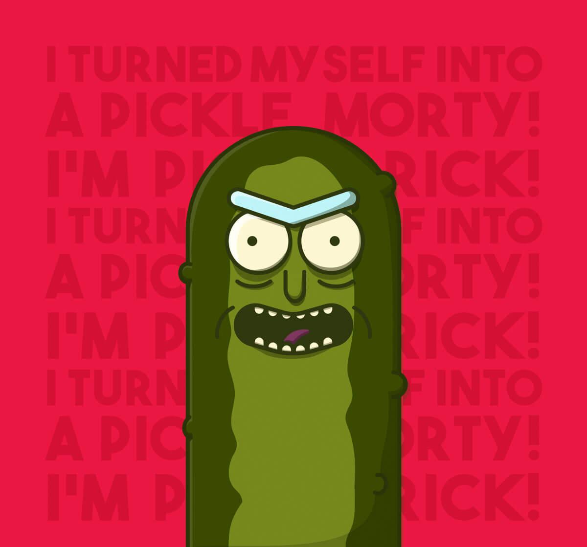 Pickle Rick by Eleazar Morales