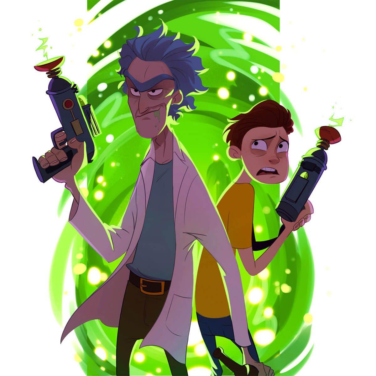 Rick and Morty Fan Art by Puba 24