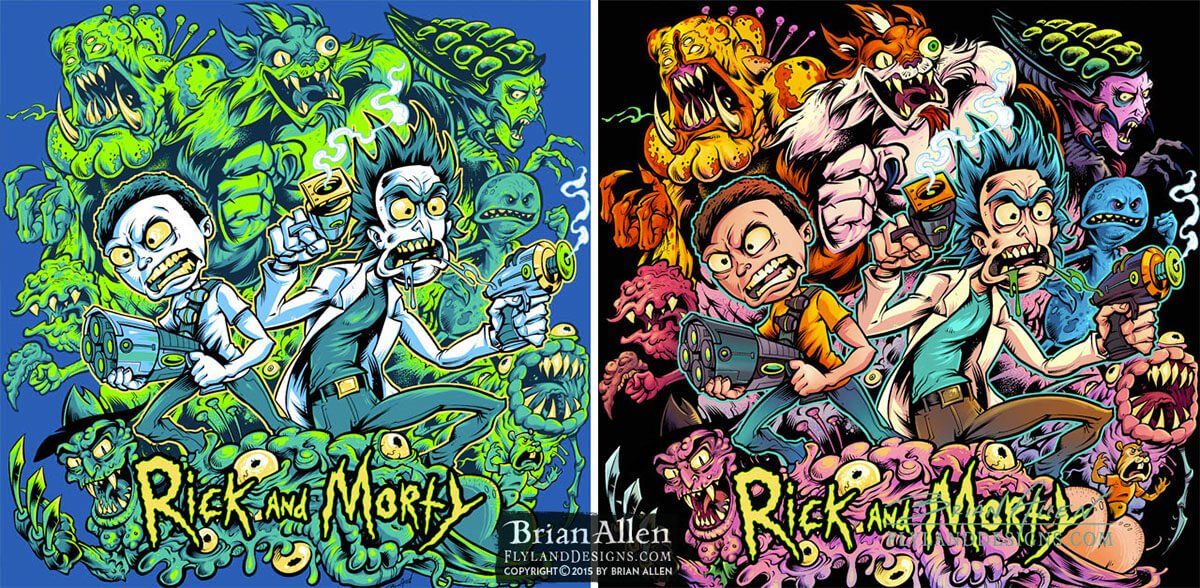Rick and Morty by Brian Allen