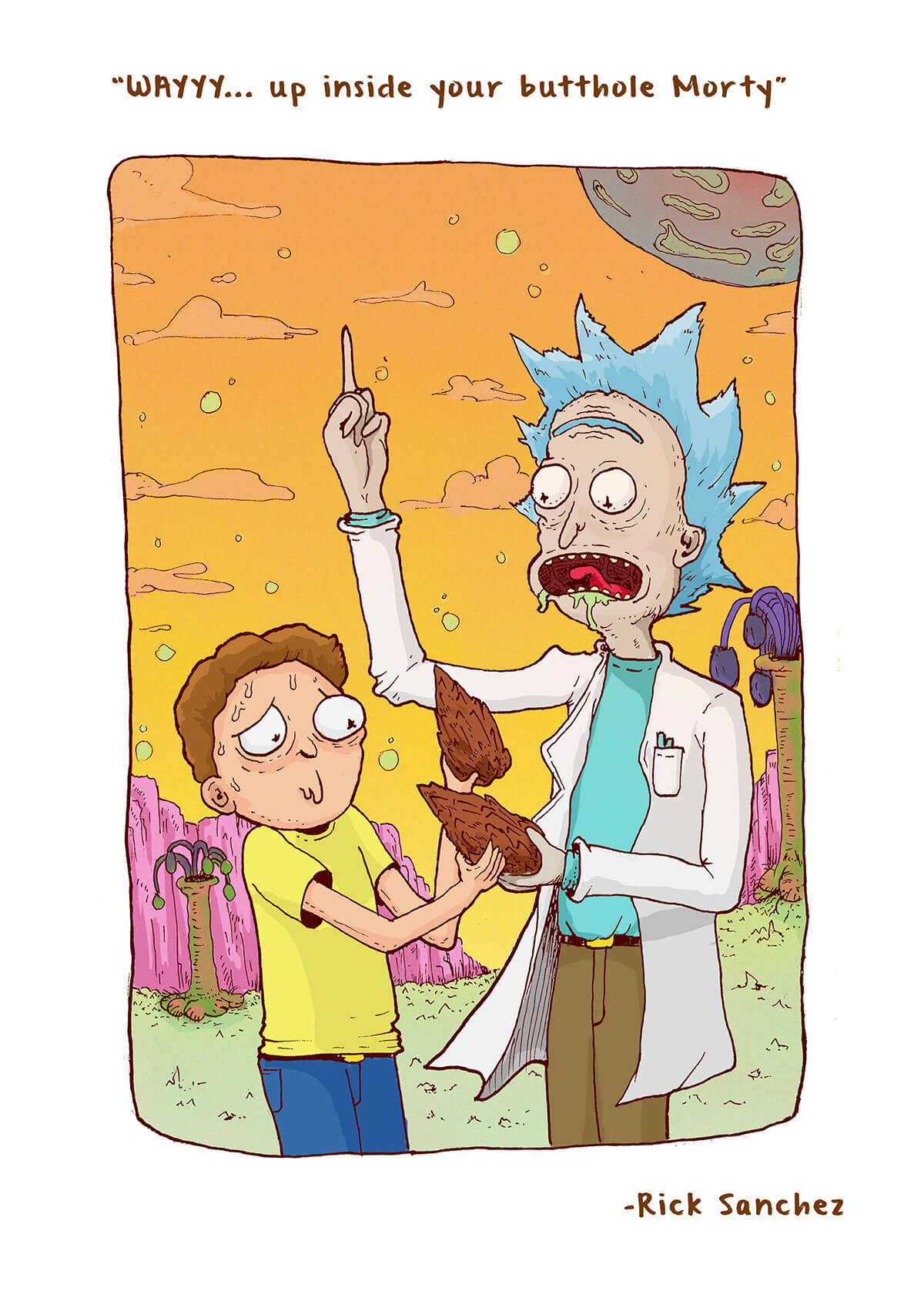 Rick and Morty by Sidd Wills