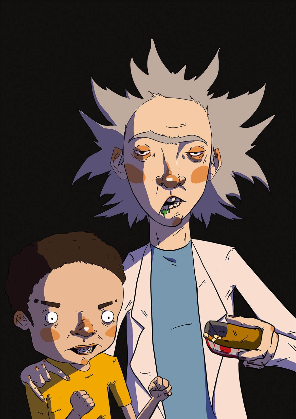 Rick and Morty by Tijuana Malibu
