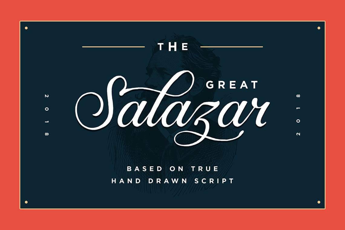 Salazar Hand Lettering Font