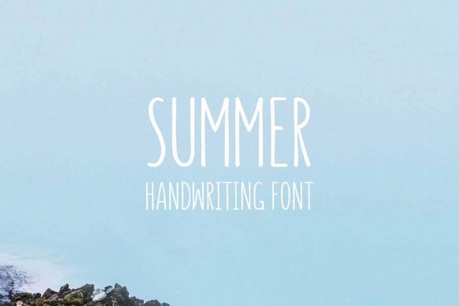Summer Hand Lettering Font