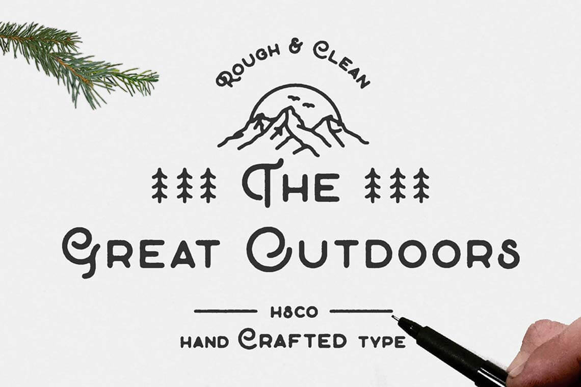The Great Outdoors Script Font