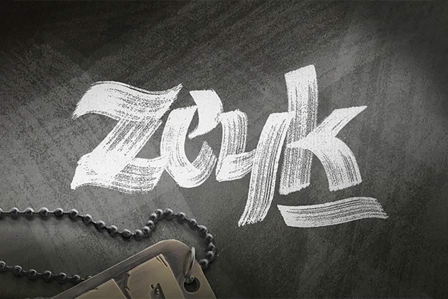 Zeyk Brush Hand Lettering Font