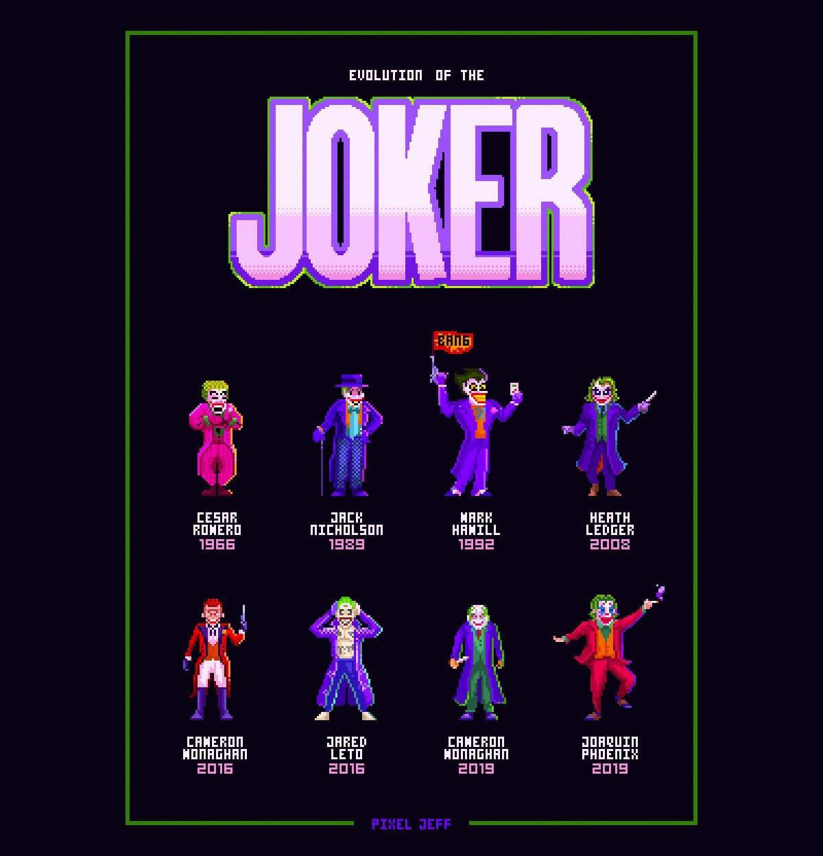 Evolution of the Joker by Pixel Jeff
