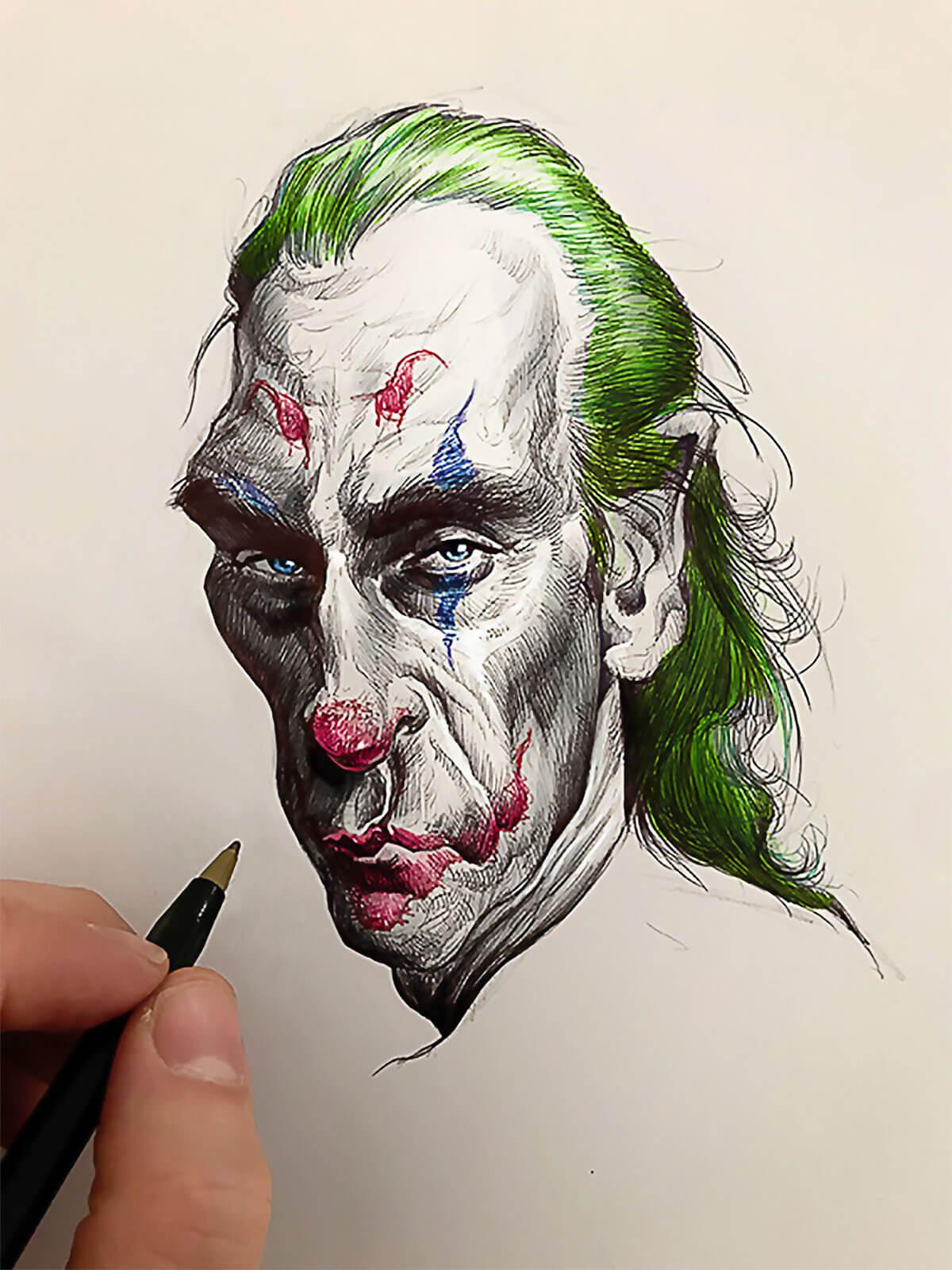 Joaquin Phoenix Joker by Juan Perednik