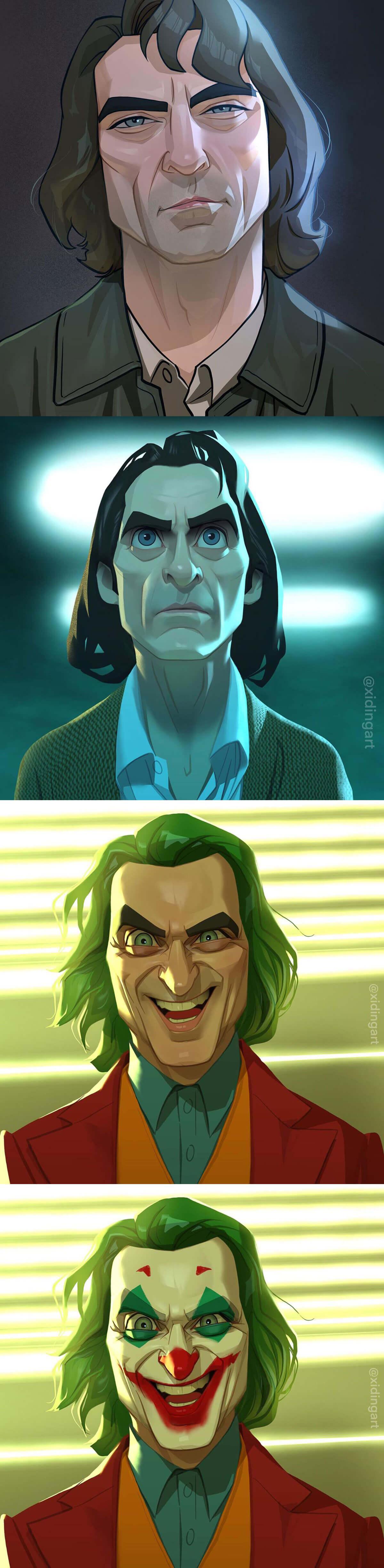 Joker Fan Art by Xi Ding