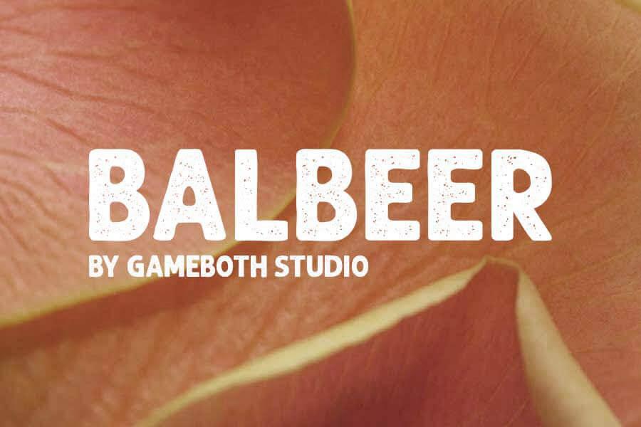 Balbeer Retro Font