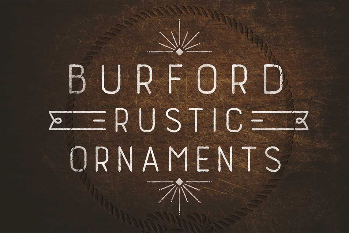 Burford Rustic Fonts Kit