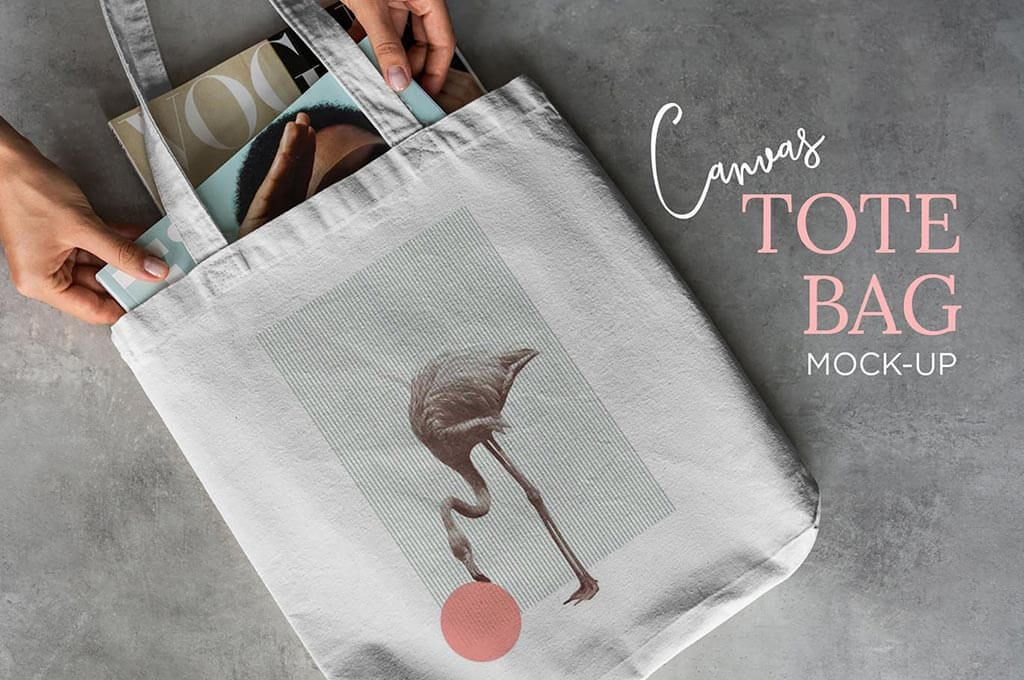 Canvas Tote Bag Mockup Lifestyle