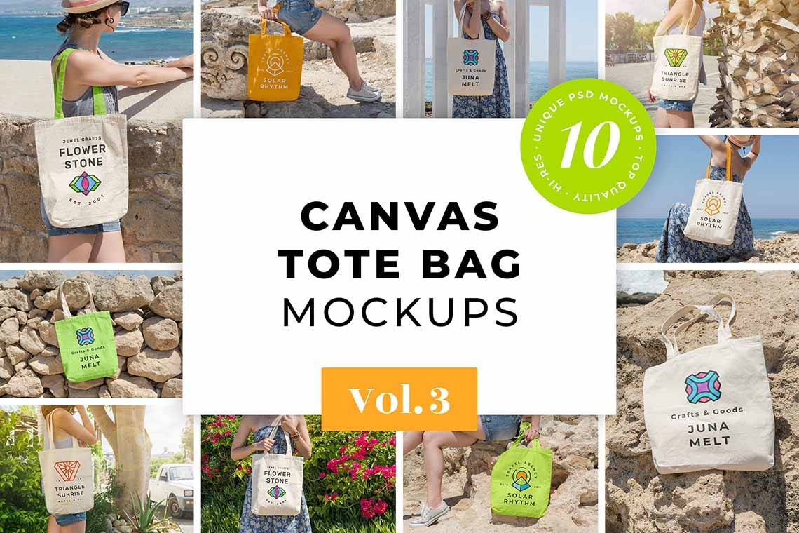 Canvas Tote Bag Mockup Pack