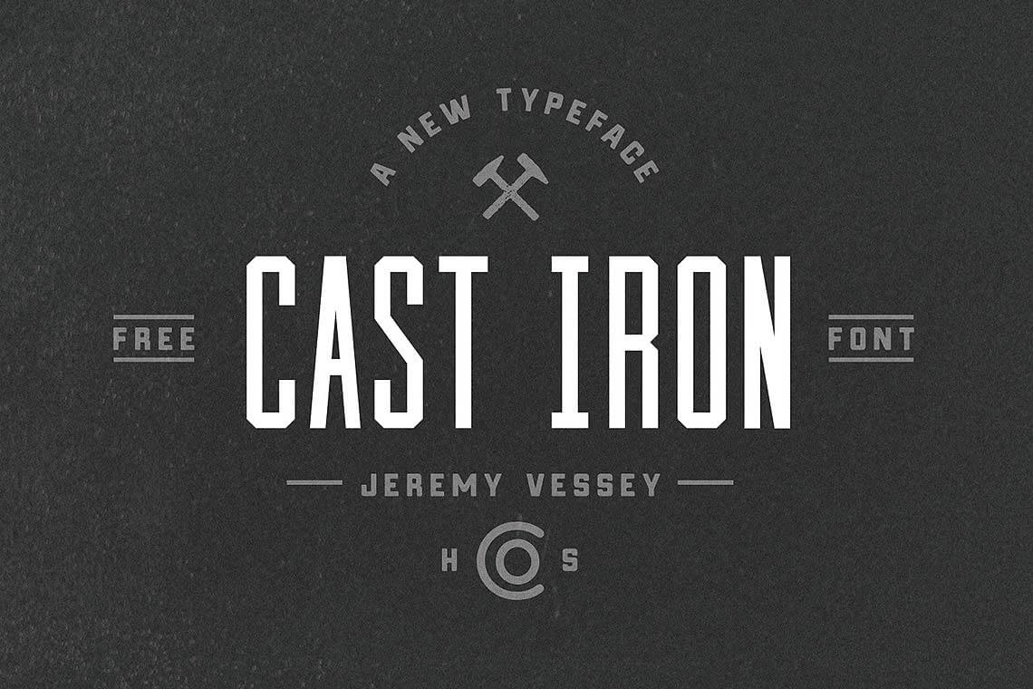 Cast Iron Retro Font