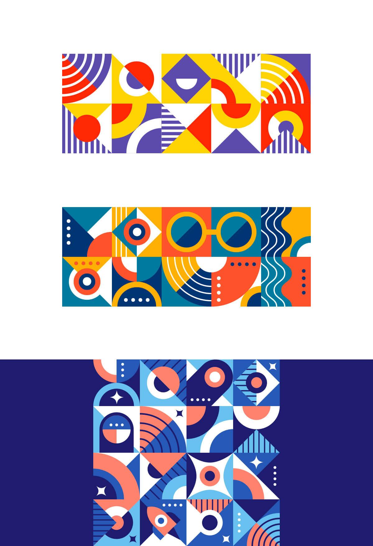 Cosmic Geometry Pattern by Zivile Zickute
