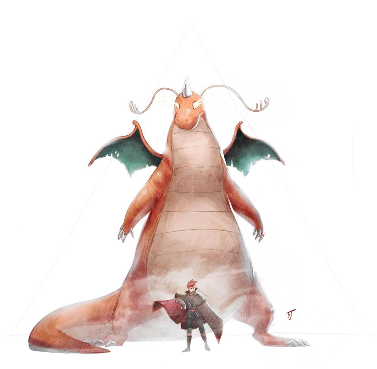Dragonite & Peter by Thomas JAMMES