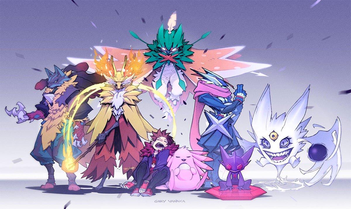 Dream Team Pokemon Art by Gary Vanaka