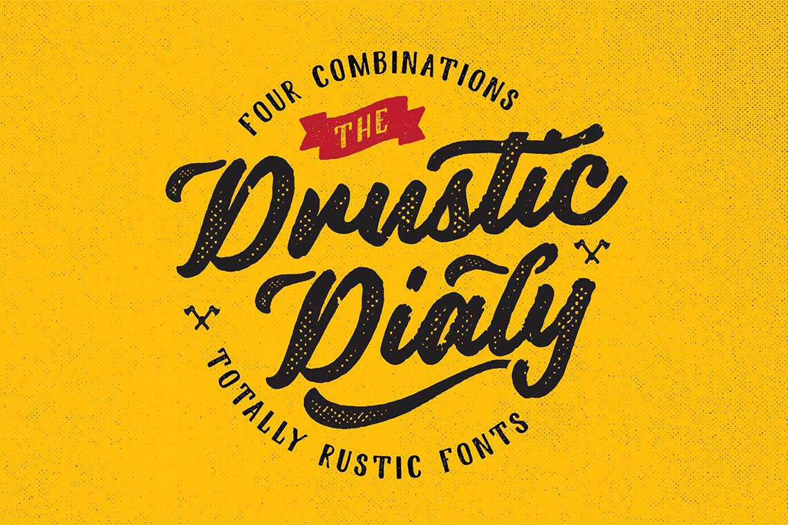 Drustic Dialy Rustic Fonts