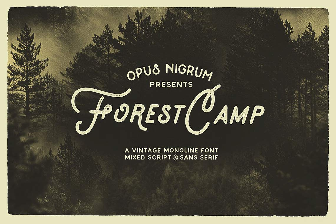 Forest Camp Retro Font