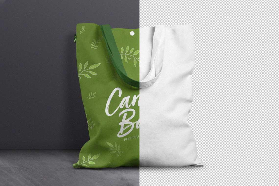 Free Canvas Tote Bag Mockup